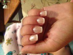 Glitter French Manicure!!