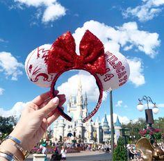 Wildcat Mouse Ears/Mickey Ear Headband/Minnie Ears/Sequin Ears/Disney World/Disneyland/Disney Cruise/High School Musical Diy Disney Ears, Disney Mickey Ears, Disney Diy, Cute Disney, Disney Crafts, Disney Stuff, Disney Magic, Minnie Mouse, Disney Ideas