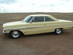 """1964 Ford Galaxie 500 My friend Daniel drove one of these in the 1970's we called it the """"taco wagon"""".  It had a horn that played La Cucharacha.  It was kind of ugly.  But we had a lot of fun riding around in it and playing 8 track beatle songs ."""