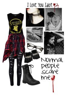 """""""Normal People Scare Me."""" by thaisa-tcs ❤ liked on Polyvore featuring Rodarte, women's clothing, women, female, woman, misses and juniors"""