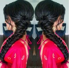 Fishtail braided hairstyle by @akmakeup1