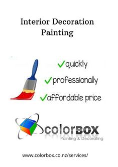 Home decoration is very important to make your living space more fulfilling and happy. Color Box provides you the best quality interior decoration painting service at an affordable price. Our professional painters always finish the job on time. Visit our website for more details: