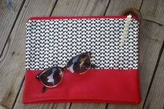 Clutch W14/15/ Pochette Hiver14/15/Graphique/rouge/red