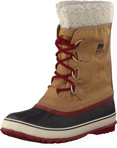 Sorel - Winter Carnival Elk, Red Dahlia. Warm vegan winter boots.