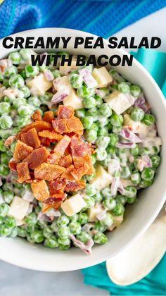 Pea Recipes, Side Dish Recipes, Lunch Recipes, Summer Recipes, Cooking Recipes, Healthy Recipes, Easy Salad Recipes, Eat Healthy, Dinner Recipes