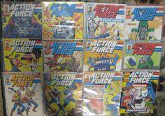 Action Force Comics 12 Vintage 1987 #13-24 Marvel