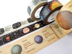 Space washi tape set, Kids gift wrapping tape, Japanese stationery, Galaxy washi tape set, Star constellations chart, Hobonichi tape, Scrap by WashiTapeAddictClub on Etsy https://www.etsy.com/listing/495779839/space-washi-tape-set-kids-gift-wrapping