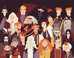 Owen Davey - Order of the Phoenix and Dumbledore's Army on Behance