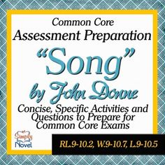 Song by John Donne Common Core Assessment Practice Questions