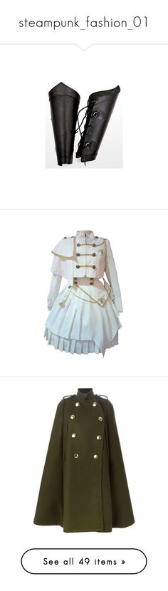 """""""steampunk_fashion_01"""" by sofie-dreamy ❤ liked on Polyvore featuring armor, accessories, gloves, medieval, weapons, dresses, outerwear, coats, lolita and jackets"""