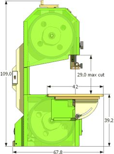 "14"" Bandsaw / bandmill specifications"