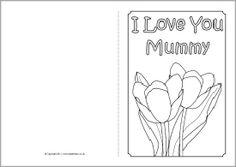 Mother's Day card colouring templates (SB4359) - SparkleBox