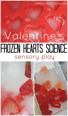 Valentines Day Ice Science Experiments & Play