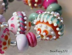Sweet Candy, Handmade lampwork glass beads (9+20) by Beadfairy Lampwork