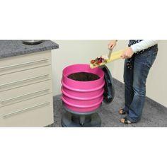 Lombricomposteur Eco Worms vert ou rose