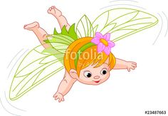 """""""baby fairy in flight"""" Stock image and royalty-free vector files on Fotolia.com - Pic 23487663"""