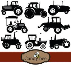 Tractors in black and white silhouette format, Tractor Silhouette Clipart comes in handy ideal for toys, kids design etc. Tractor Silhouette, Silhouette Clip Art, Vector Design, Coloring Pages, My Etsy Shop, Cricut, Templates, Digital, Cnc Plasma