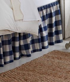 4 colors gingham bed skirt Queen size 60''x80'' by TheNewHome1