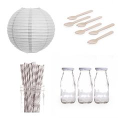 Dress My Cupcake Lanterns Dessert Table Party Kit, Includes Vintage Glass Milk Bottles with Grey Striped Straws Dress My Cupcake http://www.amazon.com/dp/B00EIR8V48/ref=cm_sw_r_pi_dp_ORs4tb1QMTZJ8