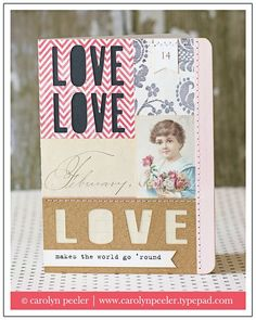 Love makes the world go round card  By: Carolyn Peeler