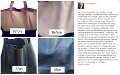 Trina Rimmer's before & after overview of restoring handbags.