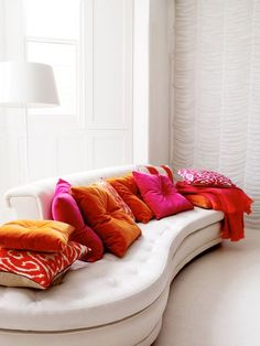 hot pink and orange, again