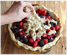 The Italian Dish - Posts - Blackberry Raspberry Pie.  This is simply the best.  Hands down.  My husband will not let me make a berry pie any other way.  What's better is that the pie crust is made in less than a minute!!  Too easy to be THIS GOOD!!