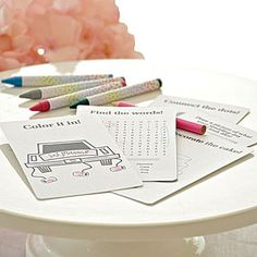This Children's Wedding Coloring Kit will keep your kids busy at your wedding reception by coloring and doing activity sheets.