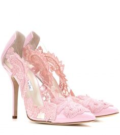 Love these shoes by OSCAR DE LA RENTA Alyssa Embellished Patent Leather And Pvc Pumps - $1396----ohhhhhh a girl can dream