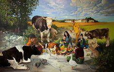 Image result for vegan world  art