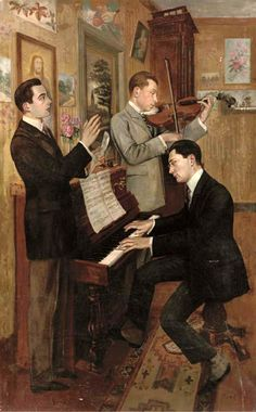 Hans Temple (Austrian, 1857-1931). The Concert