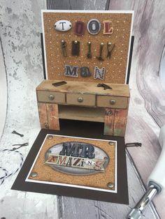 Tool bench pop-up card | docrafts.com