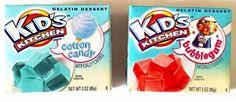 Cotton Candy and Bubble Gum Flavored Gelatin Jello Type  Dessert 2 Box Bundle
