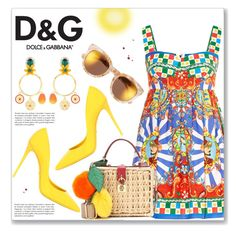 """""""Dolce and Gabbana- Summer inspiration"""" by dressedbyrose ❤ liked on Polyvore featuring Dolce&Gabbana"""