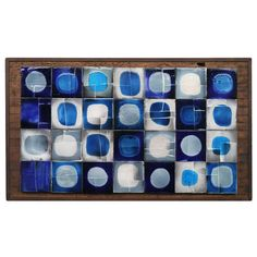 "Roger Capron Ceramic Wall Panel - ""Planete in Blue"" Vallauris circa 1960 