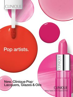 """Clinique """"POP"""" Cosmetic Advertising"""