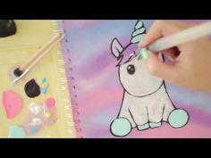 5 Einhörner malen   schnell und easy    Foxy Draws - YouTube
