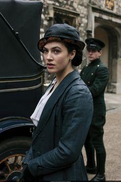 Lady Sybil (Jessica Brown-Findlay) and Branson (Allen Leech) - - Downton Abbey