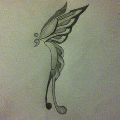 Butterfly & semi colon