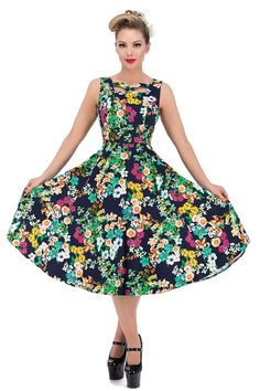 Hearts and Roses of London Eternal Floral Cutout Swing Dress -- Wow! I love this. Check it out now! : cocktail dresses