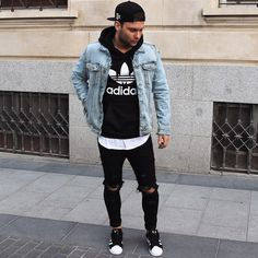 Men street wear, urban fashion, men's fashion, fashion tips, autu Mode Outfits, Fall Outfits, Casual Outfits, Men Casual, Fashion Outfits, Fashion Trends, Men's Fashion, Fashion Tips, Looks Adidas