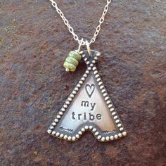 Silo Silver teepee necklace