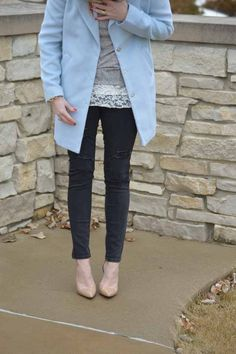 Style in a Small Town | Baby Blue Coat   My Red Carpet Roundup | http://www.styleinasmalltown.com