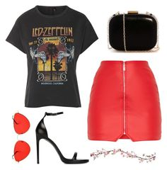 """""""↔"""" by martsola ❤ liked on Polyvore featuring And Finally, Yves Saint Laurent, black and red"""