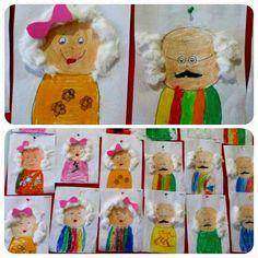 Kinderboekenweek opa en oma knutselen Grandparent's day craft idea for kids Crafts For Kids To Make, Kids Crafts, Gifts For Kids, Art For Kids, Kindergarten Crafts, Preschool Classroom, Preschool Activities, Grandparents Day Cards, Preschool Family
