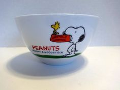 Peanuts Snoopy Woodstock Bowl Fruit Cereal Berry Dog Bowl