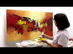 Curso de Pintura - Abstrato com Textura - YouTube