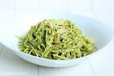 Rezepte mit Herz   ♥: Pasta mit Spinat - Mascarpone - Creme und Pinienke...