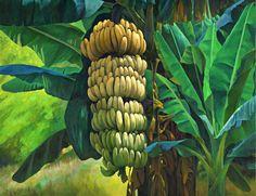 Wildlife Paintings, Nature Paintings, Village Scene Drawing, Landscape Art, Landscape Paintings, Banana Art, Colour Architecture, Tree Sketches, Black Love Art