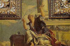 Paolo Veronese: Aracne o la Dialettica | Arachne or Dialects  (1520, fresco)